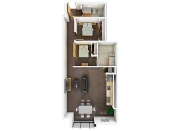 Floor plan at Potrero Launch, San Francisco, 94107