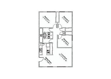 3 bedroom 2 bathroom at Zona Verde Apartments in Tucson, AZ, opens a dialog