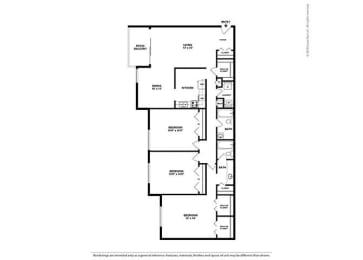Floor Plan 3BR-2BA - C1