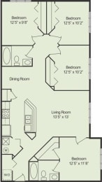 Floor Plan 4 Bed 2 Bath, opens a dialog