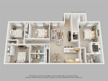 Floor Plan Four Bedroom Three Bath, opens a dialog