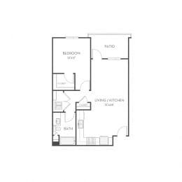Floor plan at Elan Menlo Park, Menlo Park, CA