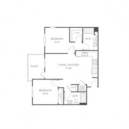 Floor plan at Elan Menlo Park, California, 94025
