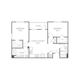 Floor plan at Elan Menlo Park, Menlo Park, CA, 94025