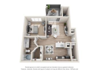 the distinctive A1 floorplan