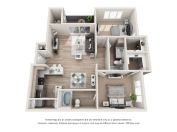 the exceptional b3 floorplan, opens a dialog