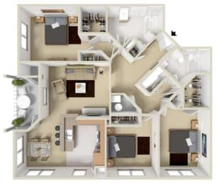 Berkshire Floor Plan at Overlook at Valley Ridge, Indiana, 46237