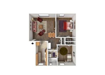 Floor Plan 2BR-1BA1