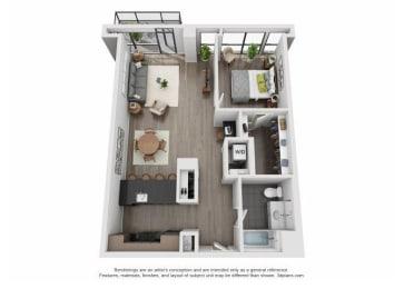 Floor Plan 507-607