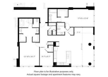 Floor plan at The Martin, Seattle, Washington