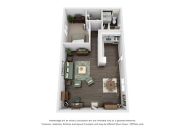 Floor plan at Marine View Apartments, San Pedro, California