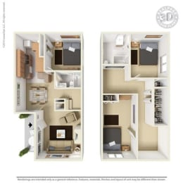 Floor Plan at Aviare Place, Texas
