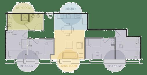 Four Bedroom One Bath Floor Plan Lofts @ 5 Lyon Grand Rapids Michigan