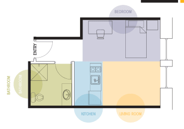 Studio Apartment Floor Plan Lofts @ 5 Lyon Grand Rapids Michigan