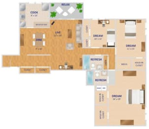 Floor Plan The Potomac