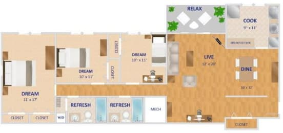 Floor Plan The Rosemont