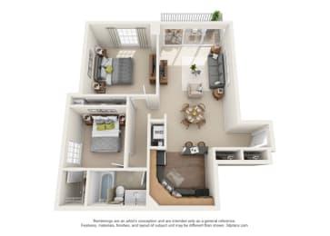 Floor Plan Chaumont - North