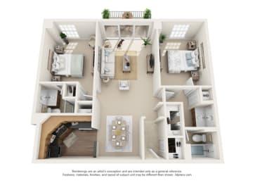 Floor Plan Marseilles -  North