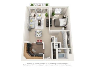 Floor Plan Toulon - North