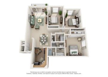 Floor Plan Versailles - North