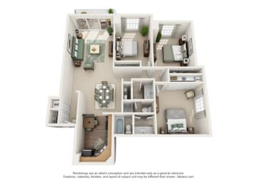 Floor Plan Versailles - Oakbrook