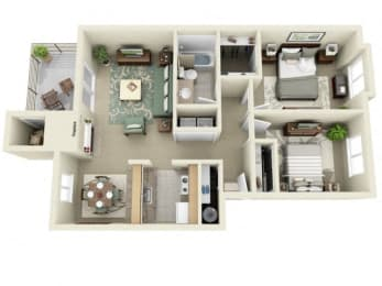 Montair at Somerset Hill|Crystal|2Bed/1Bath