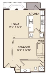 Providence At Old Meridian One bedroom apartment in Carmel Indiana, opens a dialog