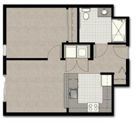 One Bedroom B10 FloorPlan at The Corydon, Washington