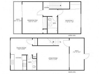2 Bedroom 1.5 Bath at Monterey Townhouse, Monterey, CA, 93940