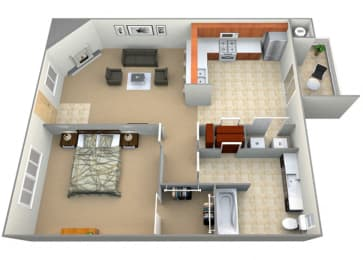 Jubilee Floor Plan at Dartmouth Tower at Shaw, California, 93612