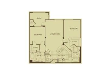 Mulberry FloorPlan at 55+ FountainGlen  Jacaranda, Fullerton, CA, 92833
