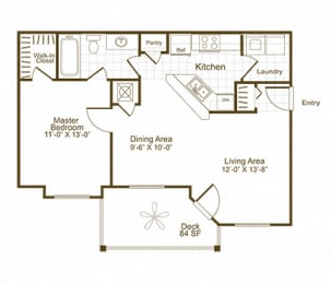 The Lex at Brier Creek A1 floor plan