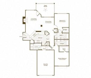 The Lex at Brier Creek B3 floor plan