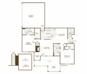 The Lex at Brier Creek B4 floor plan