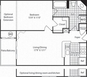 A2A Floor Plan at Westerly at Worldgate, Herndon, VA