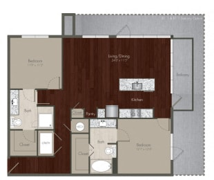 two bedroom apartments in uptown dallas, opens a dialog