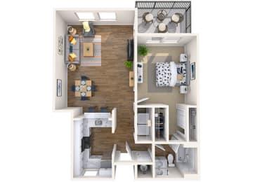Floor Plan 1x1 Jr