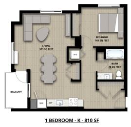 Floorplan K 1x1
