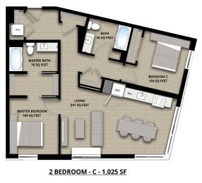 Floorplan 2C 2x2
