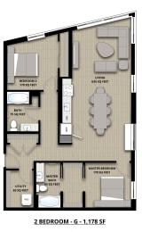 Floorplan 2G 2x2