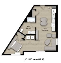 Floorplan Studio A