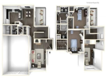Floor Plan 2X2TH