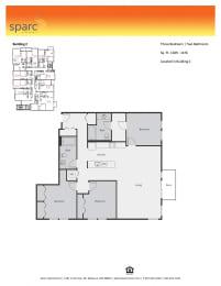 Sparc Apartments 3x2 Floor Plan