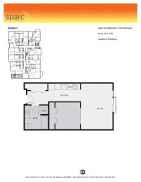 Sparc Apartments 1x1 Building C Floor Plan