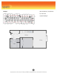 Sparc Apartments 1x1 Floor Plan