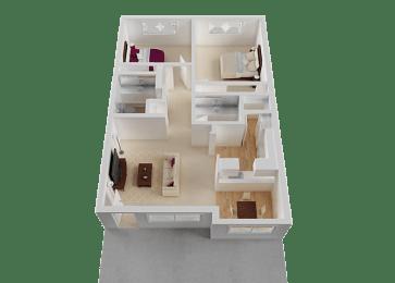 Two Bedroom at Normandy Park, Santa Clara, California