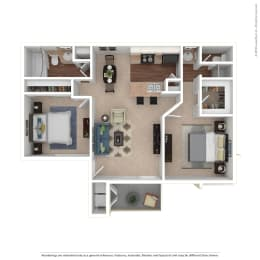 Everest 2x2 Floor Plan at The Summit at Chino Hills, California, 91709