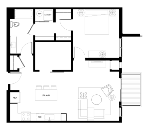 Floor Plan B8-1Den