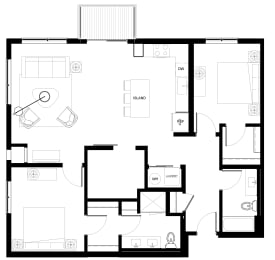 Floor Plan C6-2Den