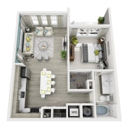 1 Bed 1 Bath Allure Floor Plan at Altis Shingle Creek, Kissimmee, FL